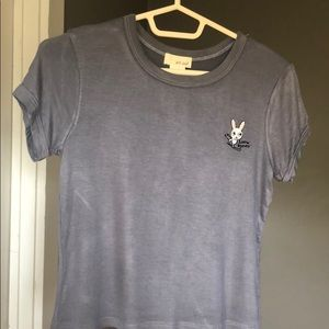 Wet Seal Cropped Grey Snow Bunny T-Shirt